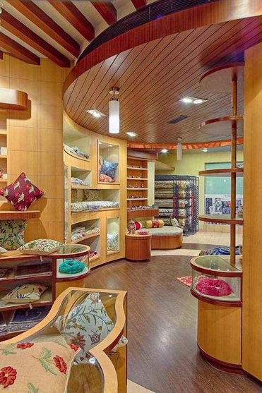 Bright wooden Interiors in the Retail Showroom Interiors