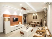 Ezhilagam - Living Room , Designed and executed by Space Studio Chennai , professional photography by Charles Photography