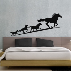Running Horses Wall Decal ( KC289 )
