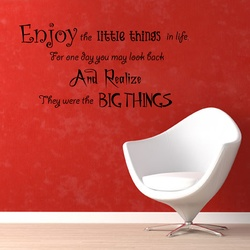 Enjoy Little Things Wall Decal ( KC380 )