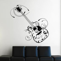 Arty Guitar Wall Decal ( KC181 )