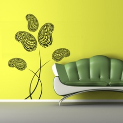Paisley Flowers Wall Decal ( KC144 )