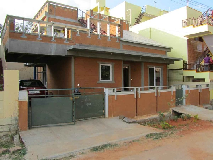 Superior Front Design Of House In Bangalore Part - 7: Front Facade - Dinesh House