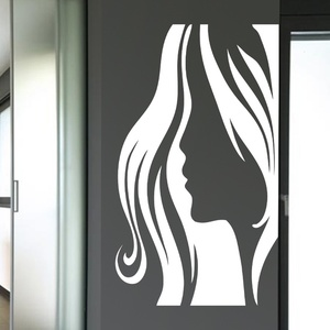 Lady Face Wall Decal