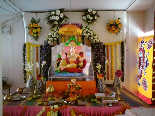 Ganpati Decoration At Home Ideas And Photo Gallery