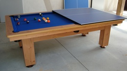 Billard dining table,wooden billard table with top, two functions