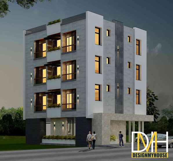 Apartment View: Apartments 3d View By Design My House, Interior Designer