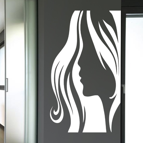 Lady Face Wall Decal ( KC182 )