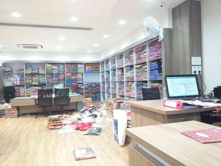 Completed Wholesale Showroom for Ms Peetex Sarees by Quadrantz