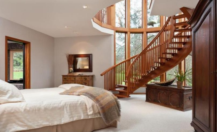 Bedroom With Stairs Designs Bedroom Under The Staircase Ideas