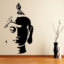 Buddha Face Wall Decal ( KC010 )