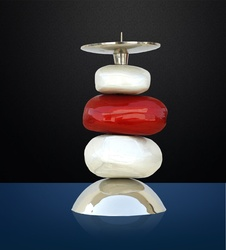Buy Candle Stand Marble (Red)