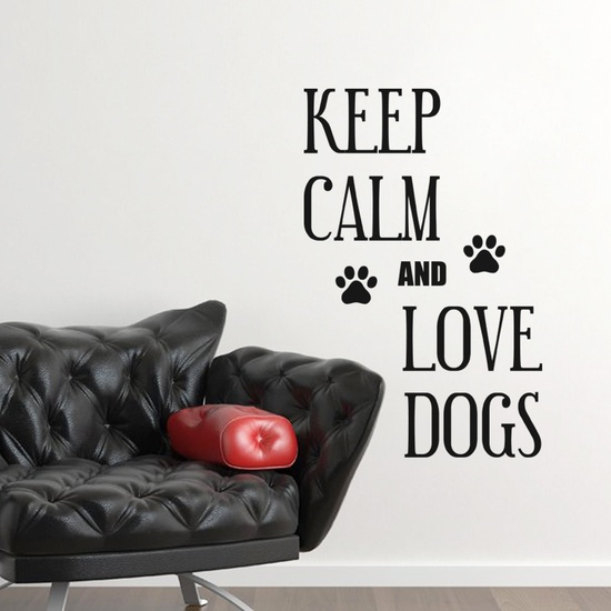 Keep Calm and Love Dogs Wall Decal ( KC363 )