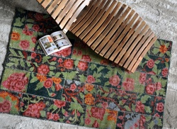 Rosa Floral Design Wool Rugs