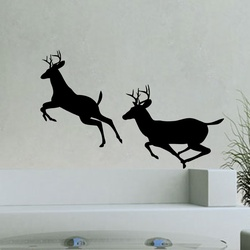 Deer Duo Wall Decal ( KC117 )