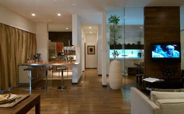 Open spaces in 3 bhk apartment design by shahen mistry