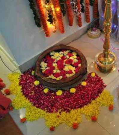 ganpati decoration ideas at home images with flowers photo gallery