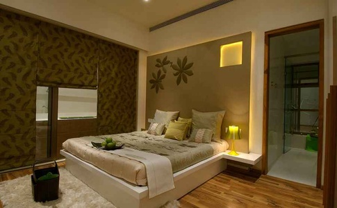 Guest Bedroom in Green and Brown