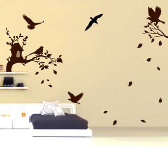 Busy Birds Wall Decal ( KC043 )
