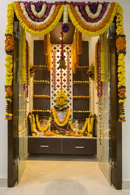 Pooja Room Colour Ideas  bination on wooden doors designs pictures