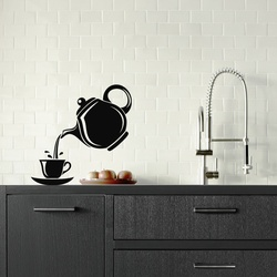 Pouring Tea Wall Decal ( KC347 )