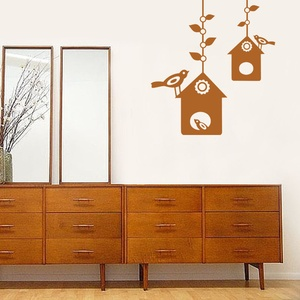 Bird House Wall Decal ( KC140 )