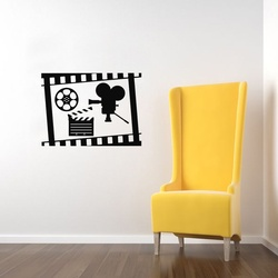 Reel Camera Action Wall Decal ( KC332 )