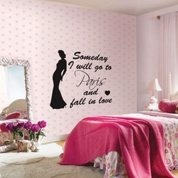 Fall In Love In Paris Wall Decal ( KC247 )