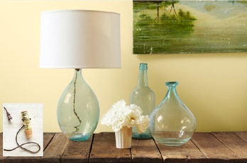 Glass bottles lamps