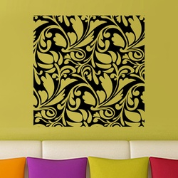 Square Floral Abstract Wall Decal ( KC186 )