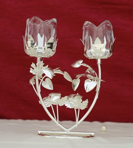 Buy Beautiful Candle Stand 2-Arms Roses