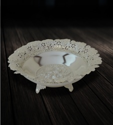 Fruit Bowl with Flower in Centre and Stand