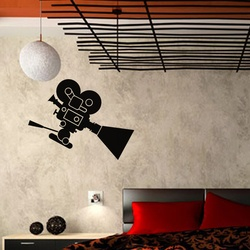 Movie Camera Wall Decal ( KC335 )