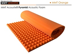 MMT Acoustix® Pyramid Acoustic Panels MMT Orange