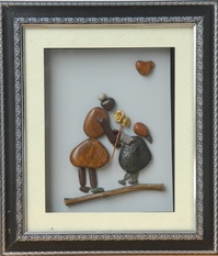Mothers' Day Gift – Natural Pebble Stone Art