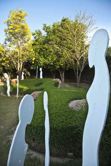 Abstract Statues In Asola Residence