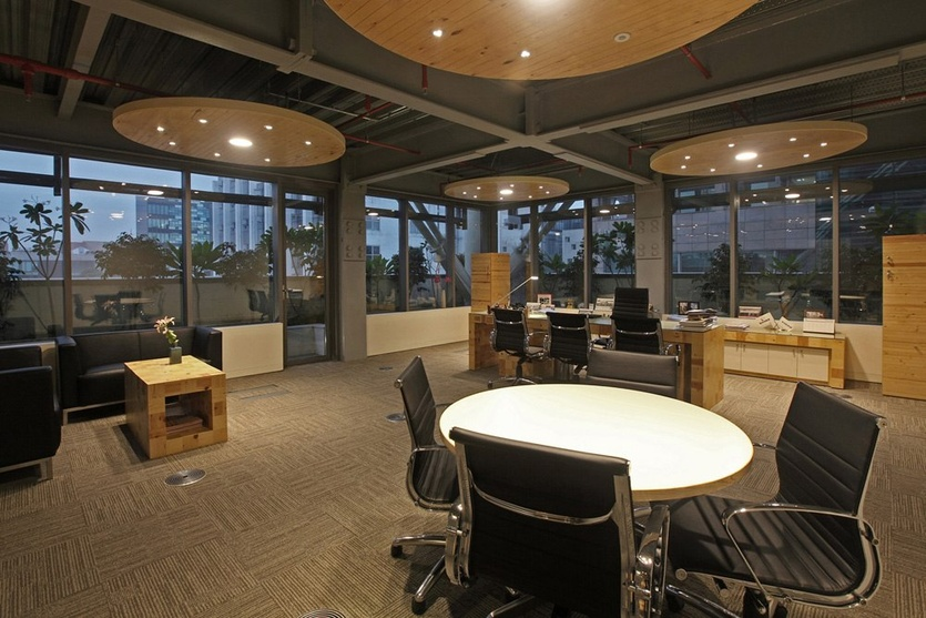 Interior work spaces