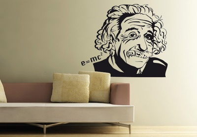 Albert Einstein Wall Decal ( KC052 )