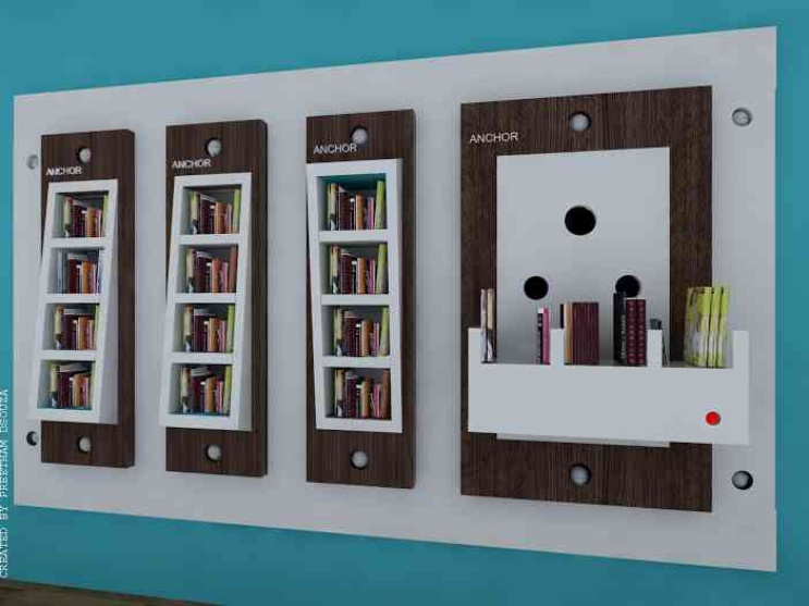 Bookshelves design----switches