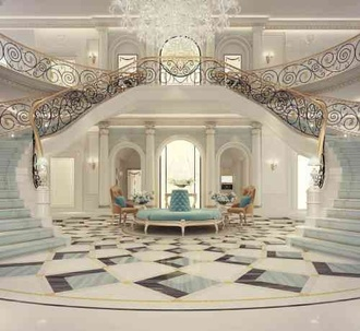 Exploring Luxurious Homes : Grand Lobby Interior Design