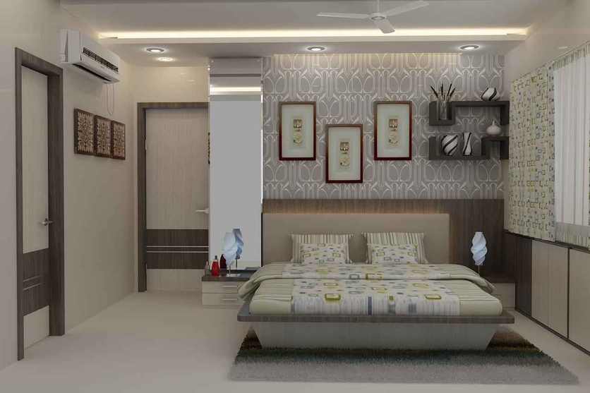 Ram chandani by mahendra jadeja interior designer in navi for Small indian bedroom interior design pictures