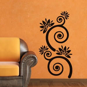 Flowers with Spiral Stems Wall Decal ( KC189 )