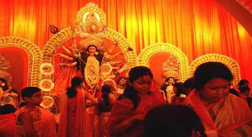 Decoration of Durga Puja Pandal