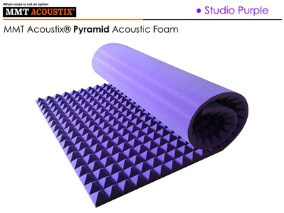 MMT Acoustix® Pyramid Acoustic Panels Purple
