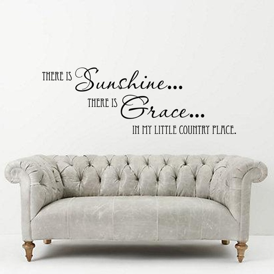 Sun Shine and Grace Wall Decal ( KC399 )
