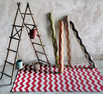 Chevron Hand-woven Cotton Rugs