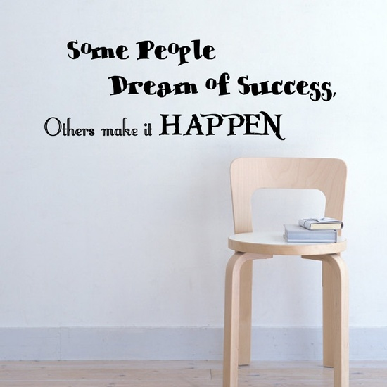 Make Success Happen Wall Decal ( KC378 )