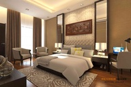 Interior visualization of a hotel room, Client-kashmir