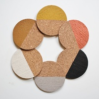 Cork coasters, Dip Dye hand painted