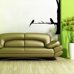 Finch Pair Wall Decal ( KC284 )